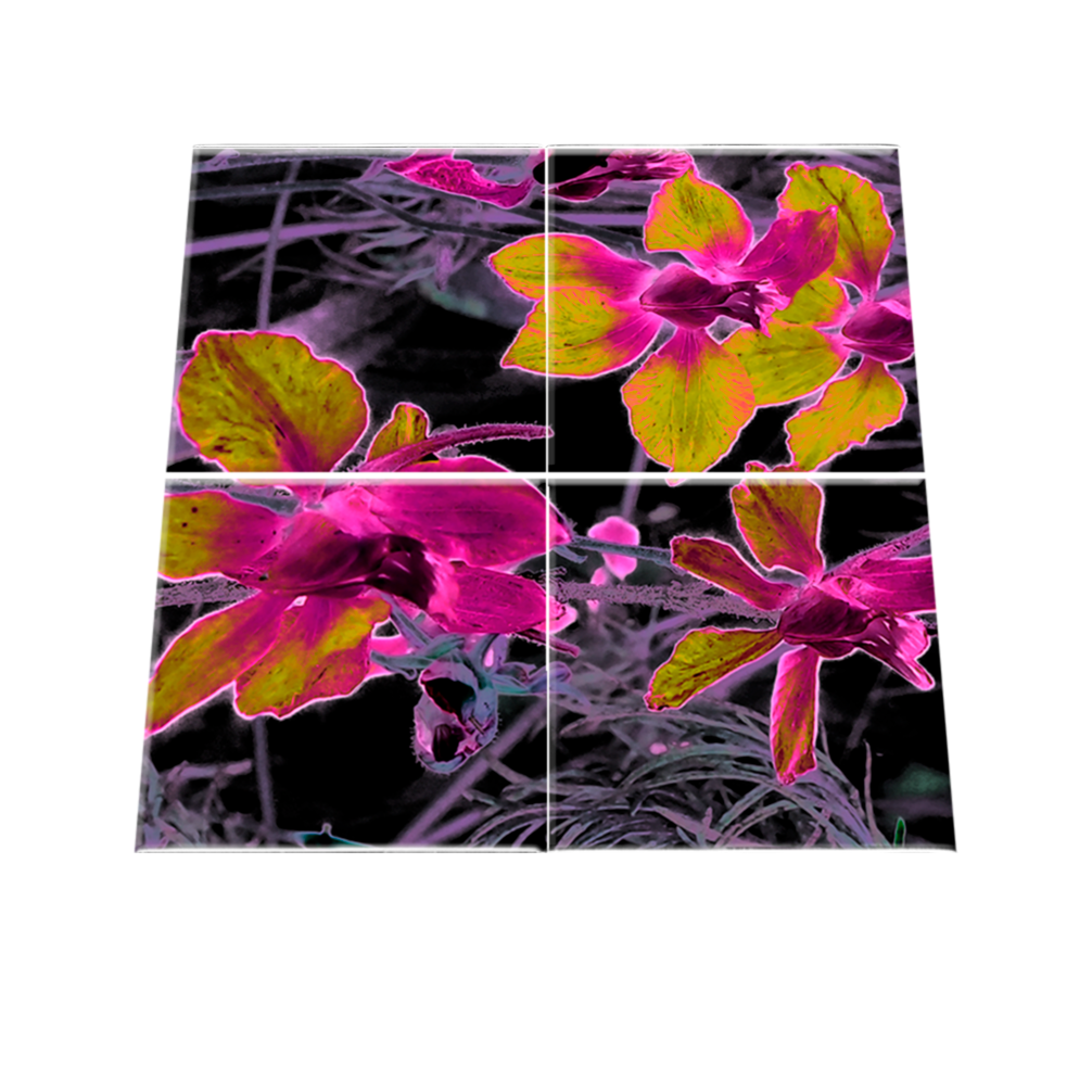 midnight-garden-purple-yellow-glass-coaster-set-new